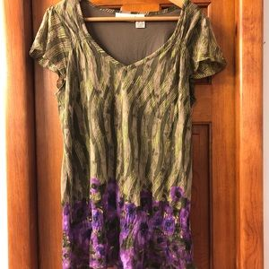 DKNY 🌸 sheer blouse